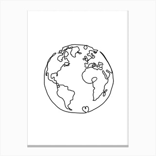 The World In Love Canvas Print