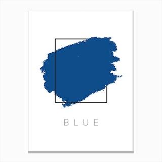 Blue Color Box Canvas Print