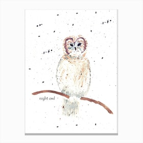 Mrs Nightowl Canvas Print