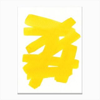 Superwatercolor Yellow Canvas Print