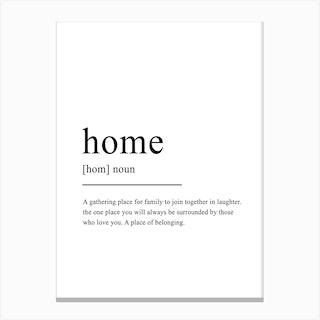 Home Definition Canvas Print