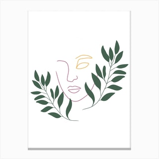 Leaf The Girl Canvas Print