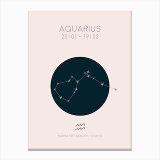 Aquarius Star Sign In Light Canvas Print
