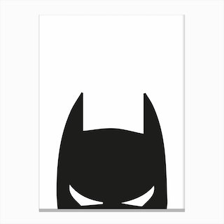 Batman Head Canvas Print