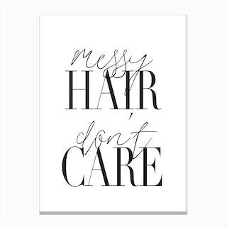 Messy Hair Canvas Print