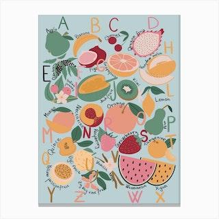 Fruit Alphabet Canvas Print