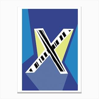 X Geometric Font Canvas Print