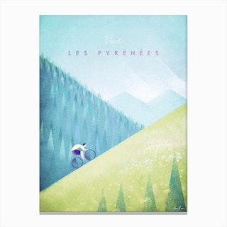 Visit Les Pyrenees Canvas Print