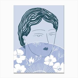 Femme A L Eventail Canvas Print