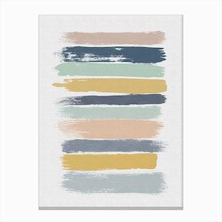 Pastel Stripes Canvas Print