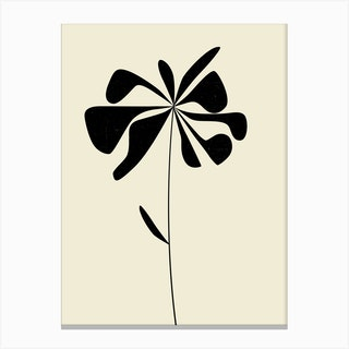Black Flower Canvas Print