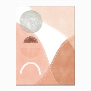 Pastel Shapes Canvas Print