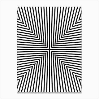 Converge Black Canvas Print