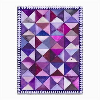 Purple Quilt Canvas Print