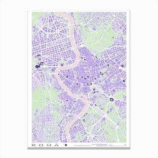Rome Violet Canvas Print