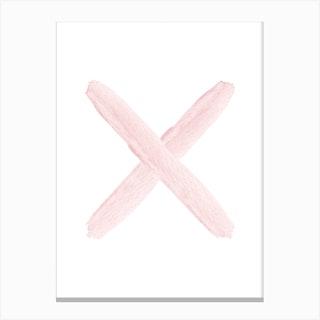 Blush Pink X Canvas Print