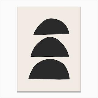 Half Moon Bowls Abstract Canvas Print