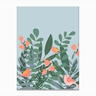 Summer Birds Canvas Print
