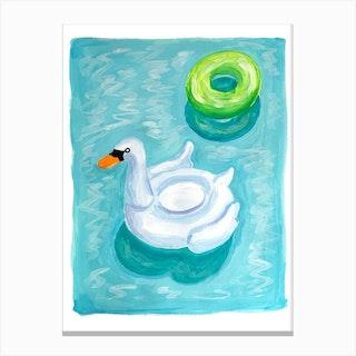 Pool Floats Canvas Print