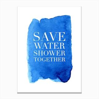Shower Together Canvas Print