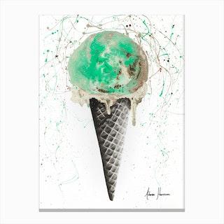 Mint And Chocolate Ice Cream Canvas Print