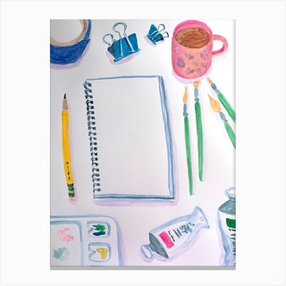 Blank Page Canvas Print