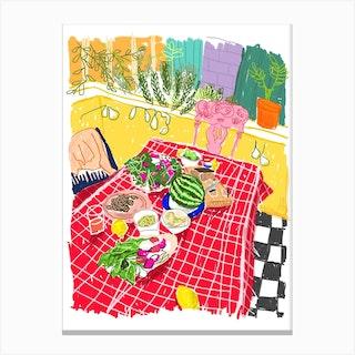 Garden Picnic Canvas Print