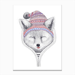 Fox In A Hood Canvas Print