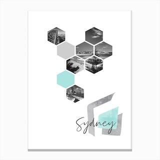 Urban Design Sydney Turquoise Canvas Print