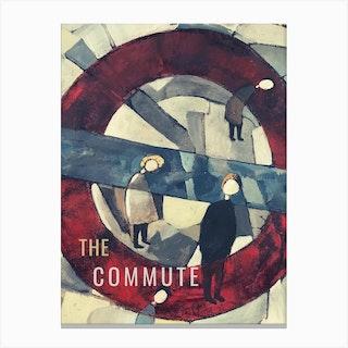 The Commute Clockwork Canvas Print