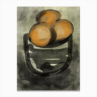 Oranges Art Canvas Print