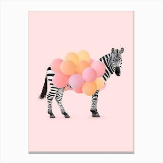 Party Zebra Canvas Print