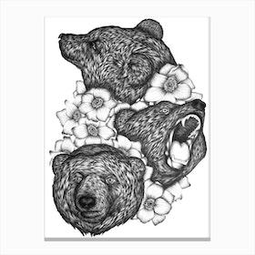 Bears In Bears Canvas Print