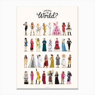 Who Run the World Canvas Print