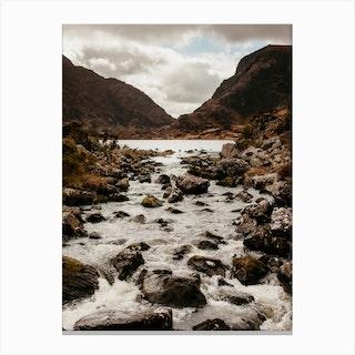 Mountain Stream In Ireland Canvas Print