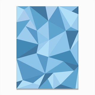 Fifty Shades of Blue Canvas Print