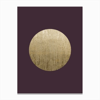 Gold Moon Bordeaux Canvas Print