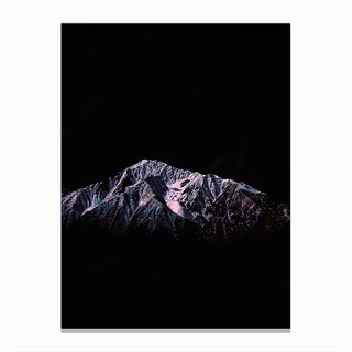 Mountain Peaks X Canvas Print