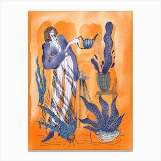 Plant Care Canvas Print