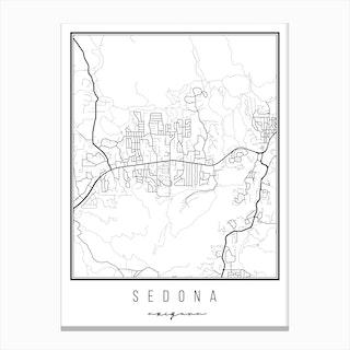 Sedona Arizona Street Map Canvas Print