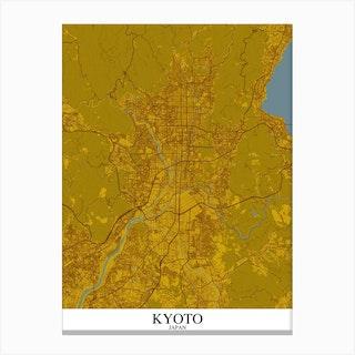 Kyoto Yellow Blue Canvas Print