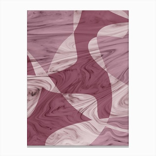 Abstract Pink Marble Canvas Print