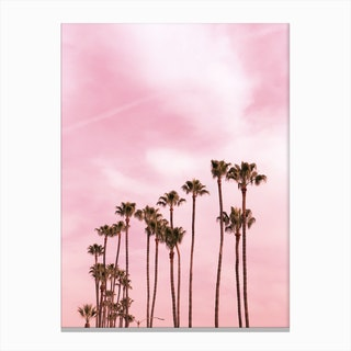 Pink Palm Trees X Canvas Print