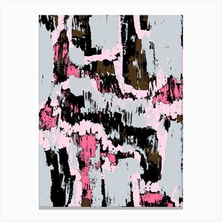 Grey And Pink Texture Canvas Print