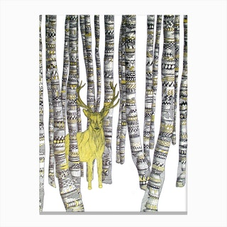 The Golden Stag Canvas Print