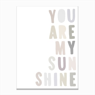 You Are My Sunshine Lyrics   Pastel Canvas Print