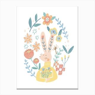 Flora Bunny Canvas Print