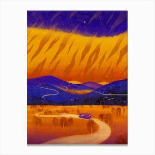 Tiger Striped Sky Canvas Print