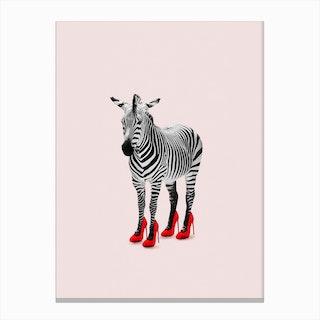 Zebra Heels Canvas Print