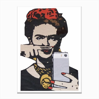 Frida Urban Canvas Print